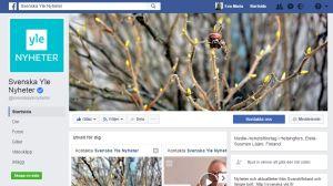 Svenska Yles sida på Facebook.