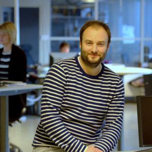 Niklas Nyberg, chefredaktör på Vasabladet.