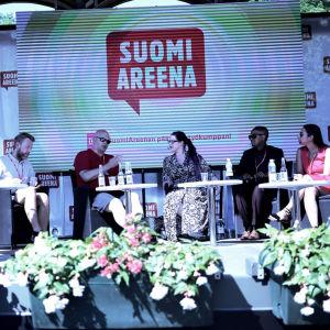 Mediediskussion på SuomiAreena