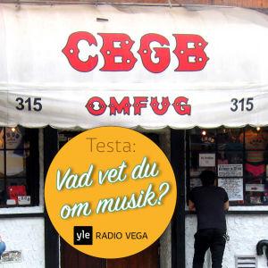 Entrén till rockklubben CBGB i New York.
