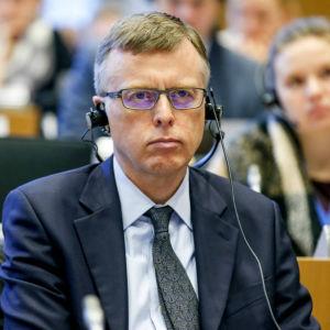Nordeas Matthew Elderfield hördes av Panama-utskottet i Europaparlamentet den 9 februrari 2017.