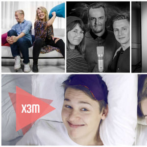 Kollage av olika program på radio X3M