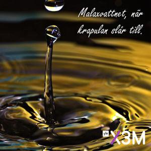 Bild på vatten där det står: Malaxvattnet, när krapulan slår till.