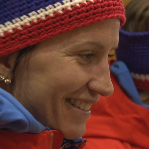 Marit Björgen i Pyeongchang 2018.