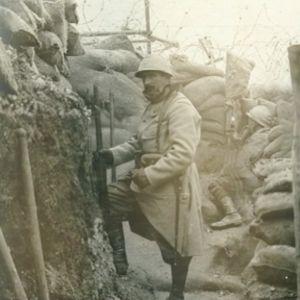 """Videostill från Vetamix inslag """"Första världskriget - Livet i skyttegravarna"""""""