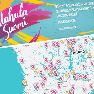 Hulahula Suomen karttanosto