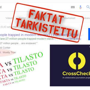 Eri faktantarkistusyhteisöjen logoja