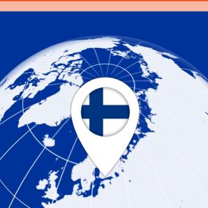 Kuvakaappaus VPN-sovellus Freedomesta: Automaattinen sijainti Suomi, sijaintia on helppo vaihtaa.
