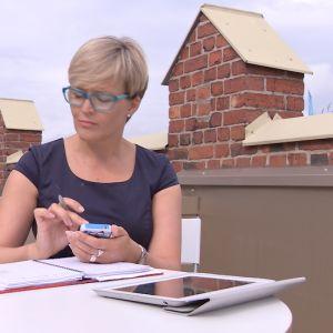 Marjaana Herlevi Klingendahlin terassilla