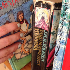Kirjahylly, jossa nuortenkirjoja