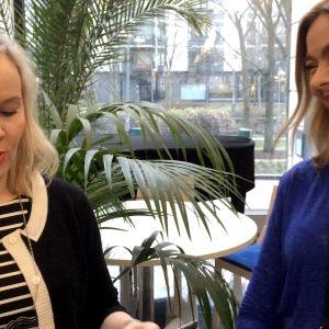 Riikka haastoi Sonja Fräkin viulupelikilpailuun.