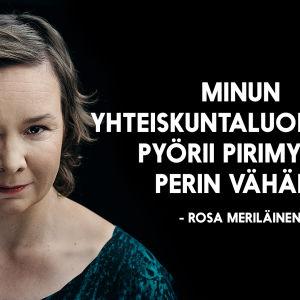 Rosa Meriläisen henkilökuva: minun yhteiskuntaluokassani pyörii pirimyyjiä perin vähän.