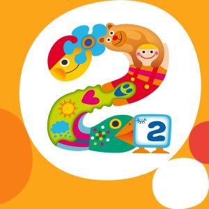 Pikku Kakkosen oranssipohjainen logokuva
