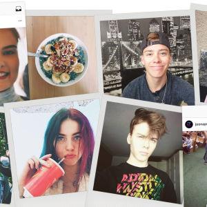 Instagram-kuvista tehty kollaasi