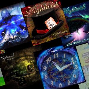 Fanien kuvittelemia Nightwish-albumeita.