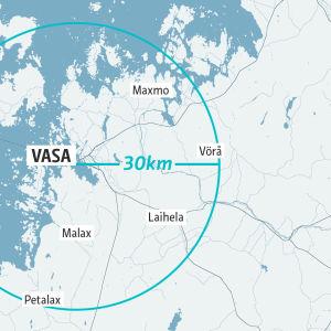 Karta för projektet Närmat