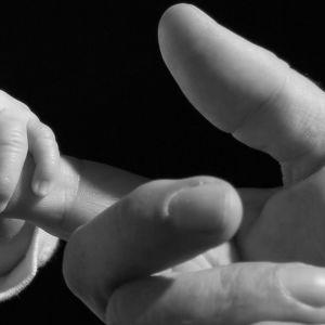 vanhemman ja aikuisen kädet