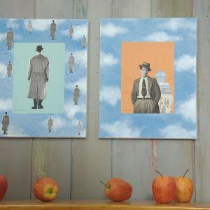 Camilla Forsén-Ströms tolkning av surrealismen i form av två tavlor