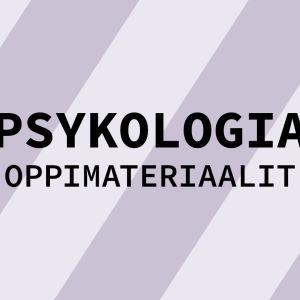 Navigaatiokuva aineen psykologia oppimateriaaleille.