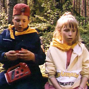 Barn på scoutläger