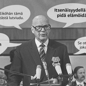 Urho Kekkonen ja hänen käyttämiään lausahduksia.