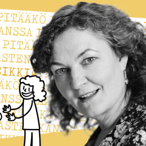 Kuvassa professori Liisa Karlsson, joka pohtii artikkelissa pitääkö vanhempien leikkiä lasten kanssa