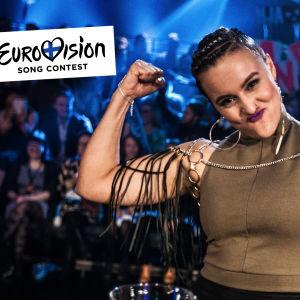 Suomen euroviisuedustaja Sandhja uhkuu poweria.