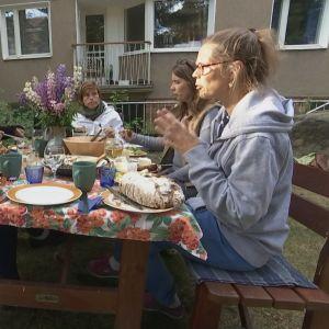 kvinnor diskuterar klimakteriet