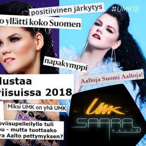 Kuva Saara Aallosta ja UMK18-pressiviikon lehtilööpeistä