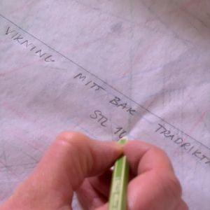skriv vilken del och övriga anvisningar på mönsterpappret