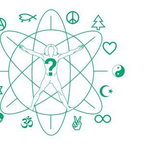 Graafisia uskontojen ja aatteiden symboleja