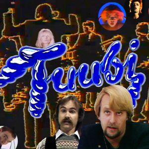 Tuubi-ohjelman tunnus, esiintyjiä sekä juontajat Heikki Harma ja Leo Friman kuvakollaasissa.