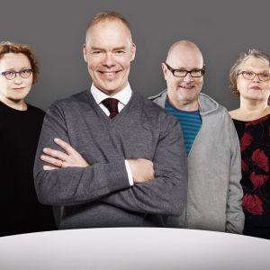 Anu Koivunen, Pauli Aalto-Setälä, Ruben Stiller ja Kaarina Hazard