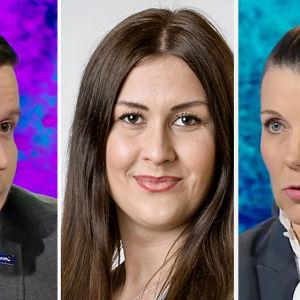 Ville Tavio, Tiina Elovaara och Arja Juvonen