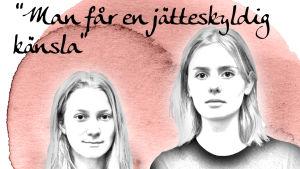 Höstens skrivningar är avklarade för Emmy Wikström och Minerva Larjanko.