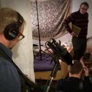 Tekijänä-sarjan kuvaukset Simo Rajamäen kotona