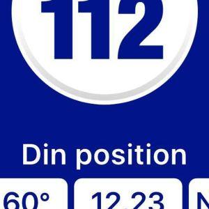 Delar av 112-appens logo