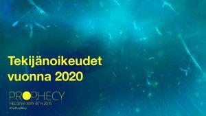 Linkki YleProphecyn pdf:n Tekijänoikeudet vuonna 2020.