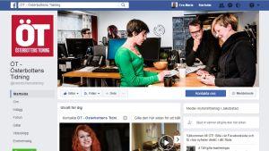 Österbottens Tidnings sida på Facebook.
