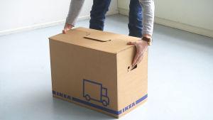 Ikeas flyttlåda.