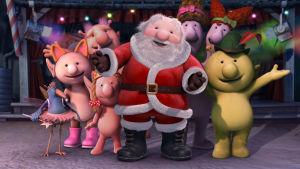 Q Putti 5 -hahmot ja joulupukki