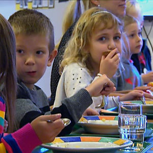 Lunch i Gerby skola i Vasa.