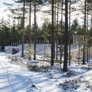 läktarbygge i Harprskog