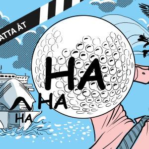"""Serien """"inget att skratta åt"""" illustration för artikel nummer fyra"""