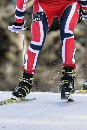 Norska skidåkare.