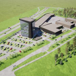 Planeringesbild för det nya området Stenkilen.