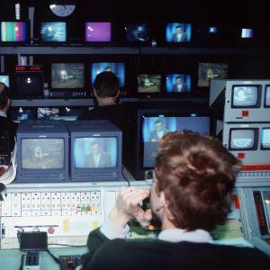 Tv-nyheternas kontrollrum