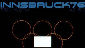Ote Innsbruckin talviolympialaisten julisteesta (1976).