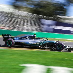 Valtteri Bottas i farten i Australien.