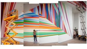 Ars 17 -näyttelyn rakentamista Kiasmassa